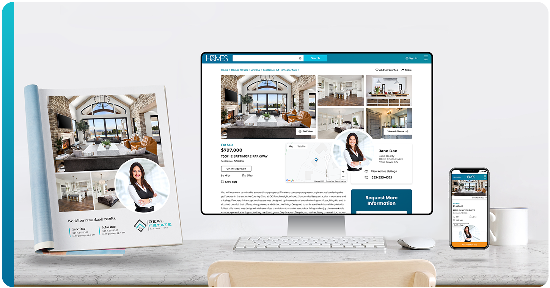 homes and land digital and print marketing platform